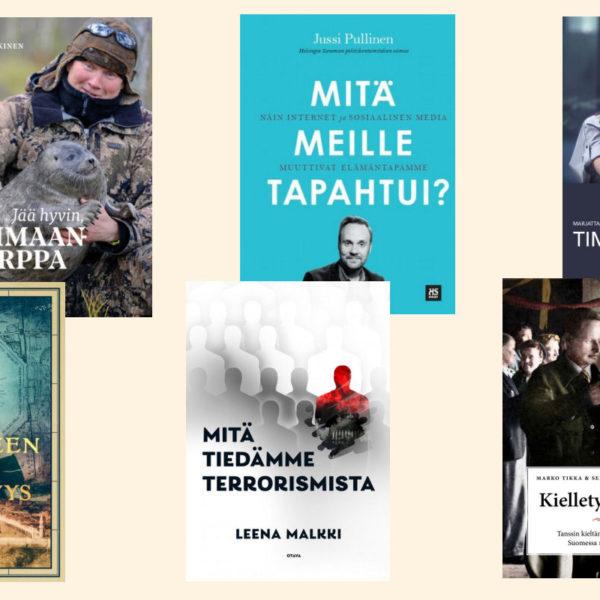 Tietokirjallisuuden Finlandia ehdokkaat 2020